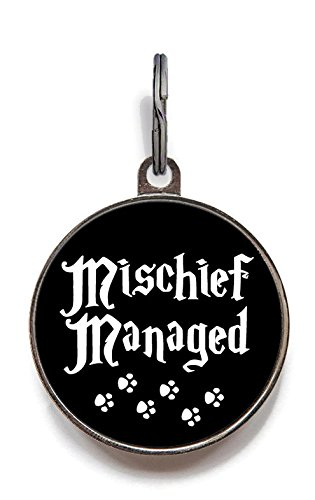 Image of Mischief Managed Dog Tag Pet Tag Custom Dog Tag Cat Tag (Large)