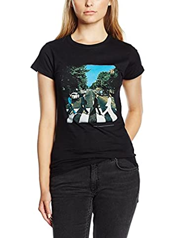 Small Black The Beatles Abbey Road Ladies Premium T-shirt. (Beatles Gifts For Kids)