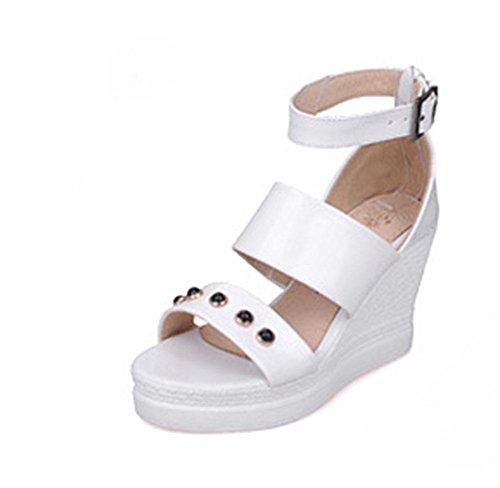 MEILI Frauen High Heel Nieten Sandalen 1