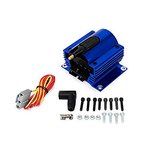 A-Team Performance E-Core Ignition Coil Remote Billet Aluminum Male 50,000 Volts Blue