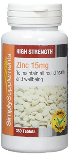 Zinc 15mg | Support for Immune & Skin Health | 360 Tablets | 100% money...