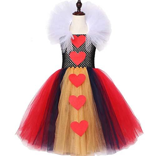 Kids Red Queen Cosplay Halloween Costumes Girls Party