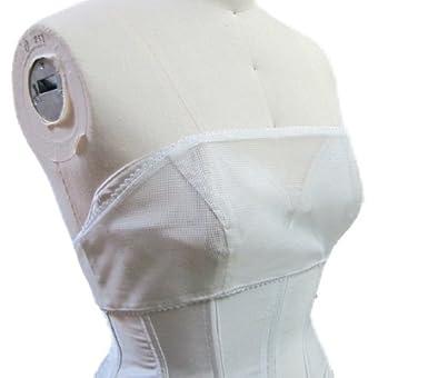 【ベアトップドレスのズリ落ち防止/胸元隠し】くっつく下着 ノンスリップ ビスチェ