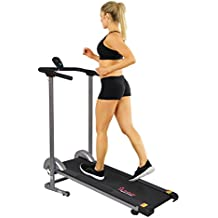 Sunny Health & Fitness SF-T1407M Manual Walking Treadmill, Gray