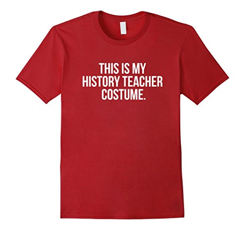Mens This is my History Teacher Costume Funny Halloween T Shirt XL Cranberry