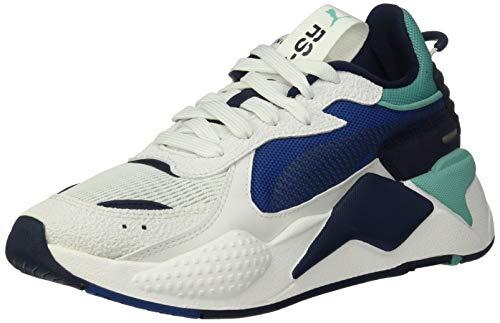 PUMA RS-X Shoe, Puma White-Galaxy Blue, 10.5 M US
