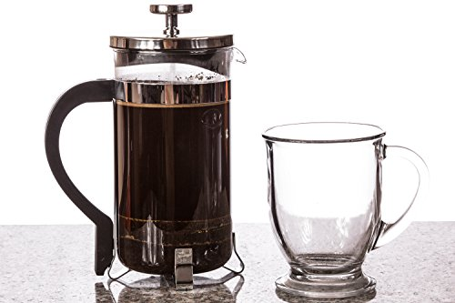 BOJE French Press Coffee Maker - Cafetiere - FREE Replacement Glass With Warranty - Stainless ...