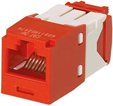 Panduit Mini-Com Cat5e TX-5e Modular Jack Red Box of 50 CJ5E88TGRD