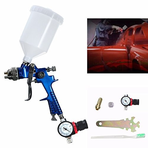 600CC 1.4mm HVLP Air Spray Gun Tool Automotive Shop Painting Tools with Gauge by SPK603