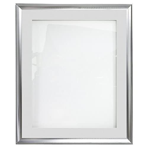 "Wholesale 22"" x 28"" Sign Poster Frame for Wall, Swing Open Door, White and Black Mats Included (Aluminum) hot sale"