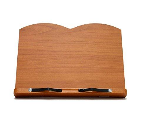 Wiz Desktop Book Stands Book Holder Bookends Reading Desk Mdf Compression Materials 15 Step W340mm Cherry - Mdf Material