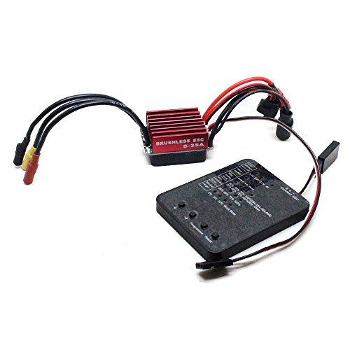 Chartsea 35A Car Brushless ESC + Programming Card For 1/12 1/14 1/16 RC Car (ESC + Programming Card)