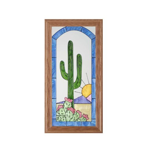 - Southwest Painted Glass Panel C-018