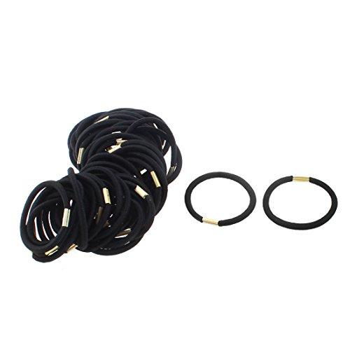 uxcell Women Ponytail Holder Elastic Hair Tie Rope Band Hairband 50pcs Black