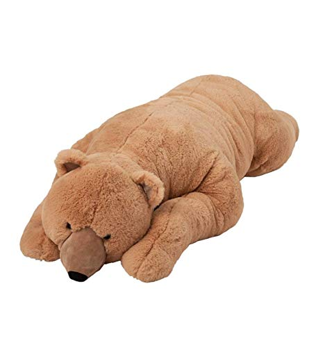 Wind & Weather AC3941-BRN Super-Soft Big Bear Hug Body Pillow with Real, 36