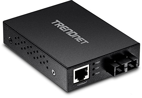 (TRENDnet 100 Base-T to 100 Base-FX Multi-Mode SC Fiber Converter, Standalone, 10/100 Mbps Auto-MDIX Fast Ethernet Port, Fiber Networking up to 2 km (1.25miles), 200 Mbps Switching Capacity, TFC-FMSC)
