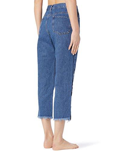 Bleu les Calzedonia Boutons C 3210 Jean sur ts Femme aqqrIBn0