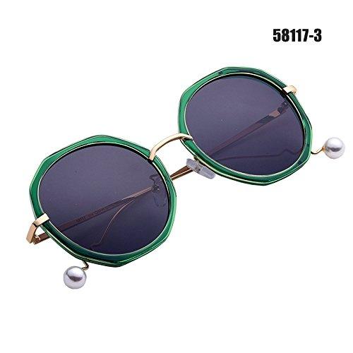 De verde B Frame A zhenghao De Las Gafas Manejar De Xue Marco Sol Cristal Espejo De Blue Gafas aTOxU0q