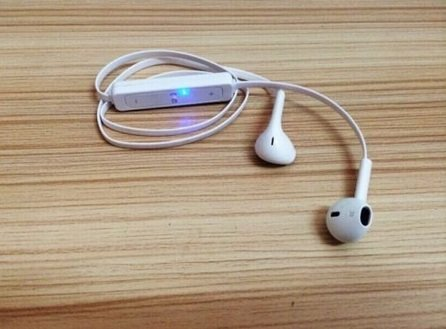 White Wireless Bluetooth Headset Sport Stereo Headphone Earphone - Wireless Amp Cord