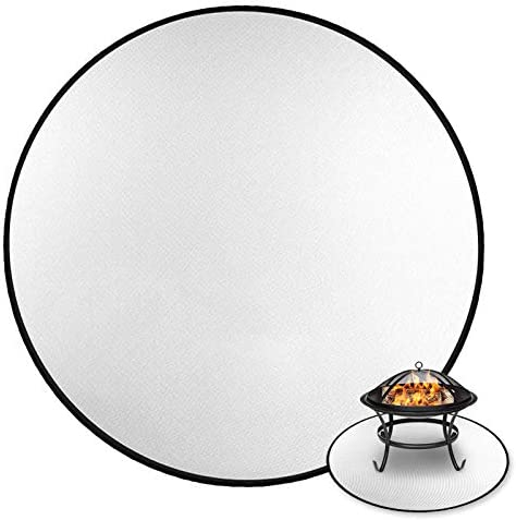 Evoio 36 Inch Fire Pit Mat For Deck Fireproof Firepad Deck Protector Fire Pit Mat For Under Fire Pit Double Sided Round Fire Pit Pad For Bbq Grass Patio Lawn Protection Fire