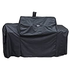 This cover, made to fit the Oklahoma Joe Grill and Smoker Combo is specifically designed and shaped to offer an ideal fit this product. This cover is made of 300D x 250D polyester. The heavy-duty cover is built to last and is weather resistan...