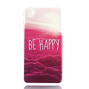 For ANGELLA-M HTC Desire 816 Protection Case , Beautiful Cloud Ultra-Thin Transparent Flexible Slim Silicone Soft TPU [Crystal Clear] Bumper Back Cover.