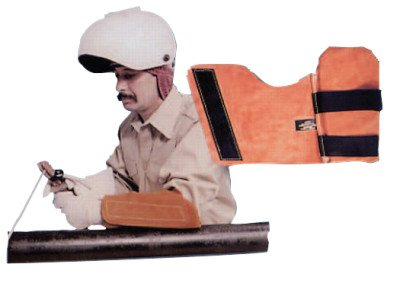 Lapco FR Lap-AR Leather Arm Pad, Right Arm, One Size, - Leather Pads Arm