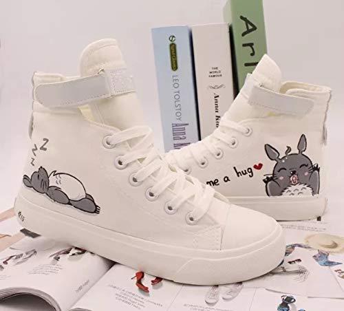 69721e071c Amazon.com: My Neighbor Totoro Anime Shoes Sneakers Hand Painted ...