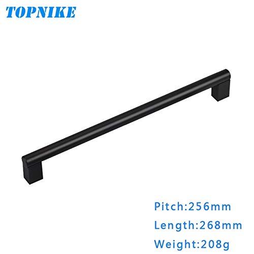 BlackL268mm TOPNIKE Space Aluminum Alloy Modern Simple Furniture Wardrobe Door Handle Kitchen Cabinet Cupboard Door Solid Diameter 16mm  (color  BlackL490mm)