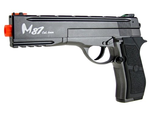 wg m84 long full metal co2 airsoft pistol – black/sliver(Airsoft Gun)