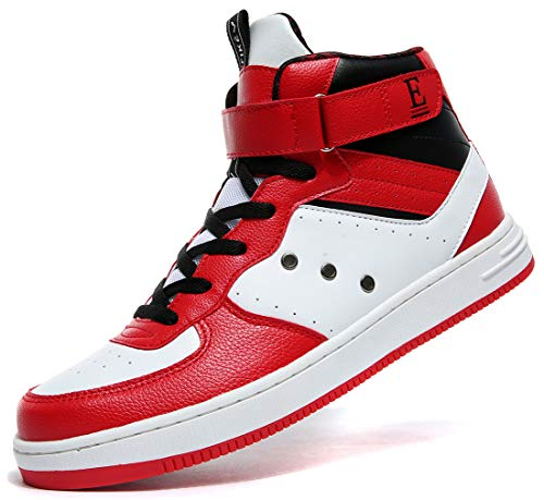Men's High Top Leather Shoe Non-Marking Rubber Outsole Classic Fashion Sneakers