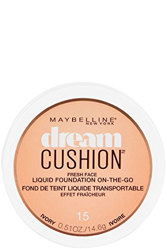 Maybelline Dream Cushion Fresh Face Liquid Foundation, Ivory, 0.51 oz.