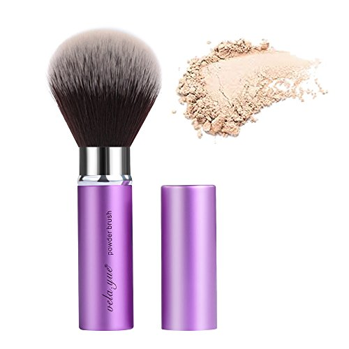 - Retractable Face Kabuki Brush Round Powder Makeup Brushes