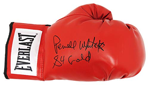 Pernell Whitaker Signed Everlast Red Boxing Glove w/84 Olympic Gold (Olympic Boxing Gloves)