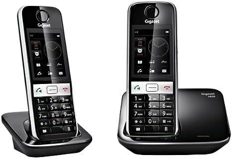Gigaset S820 DUO - Teléfono fijo inalámbrico (Bluetooth), negro: Amazon.es: Electrónica