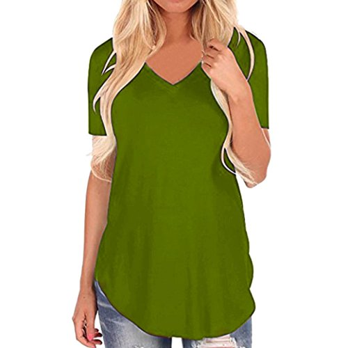 Punk Maternity Clothes - Clearance Sale! Wintialy Women Short Sleeve V-Neck Irregular Hem Loose Casual Tee T-Shirt Tops