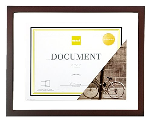 Kiera Grace Suspense Wood Float Document Frame, 11 by 14 Inc