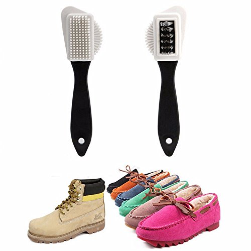 (♛Euone Cleaning Brush ♛Clearance♛, Shoes Cleaning Soft Plastic 3 Sides Shoes Brush S Shape Boots Nubuck Suede Nice)