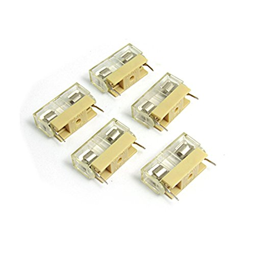 5 Pcs Plastic Cover Holder XS-1033-1 250V 6A for 5 x 20mm Fuse ()