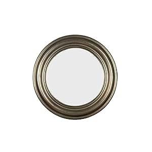 Espejo de pared redondo decorativo de dise o craft pasco for Espejo redondo plateado