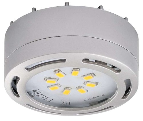 LEDP120NK   120V Direct LED Puck Light Nickel