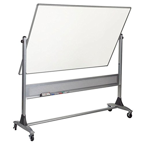 Balt Reversible Platinum Whiteboard - Porcelain, 72