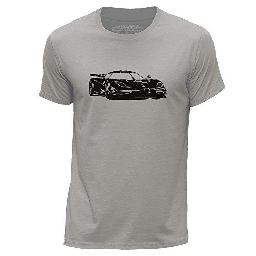 stuff4-mens-small-s-light-grey-round-neck-t-shirt-stencil-car-art-k-one