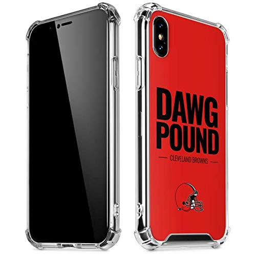 Skinit Cleveland Browns Team Motto iPhone X/XS Clear Case - Officially Licensed NFL Phone Case Clear - Transparent iPhone X/XS Cover