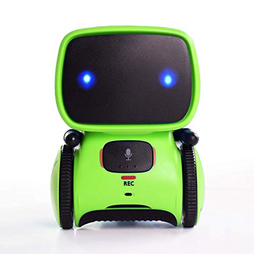 Contixo R1 Kids Robot Toy for Boys Girls | Talking Interactive Voice Controlled Touch Sensor Dancing Singing Voice Recorder Funny Humor Speech Recognition for Infant Toddler Children Robotics - Green