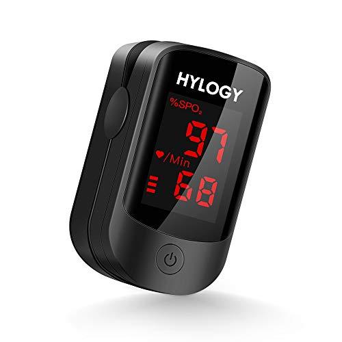 🥇 HYLOGY Oxímetro de Pulso Pulsioximetro de Dedo Profesional saturacion oxigeno oxímetro con pantalla OLED