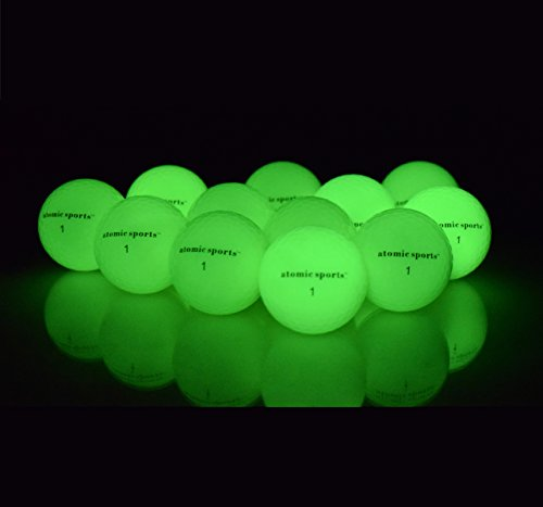 12 atomic sports Golf Balls - Glow in the Dark Golf (Glow Golf Balls)