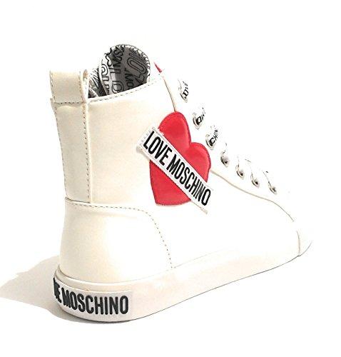 Blanc Baskets Femme Pour Moschino Bianco f7q44nx