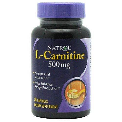 NATROL L CARNITINE 500MG, 30 CAP
