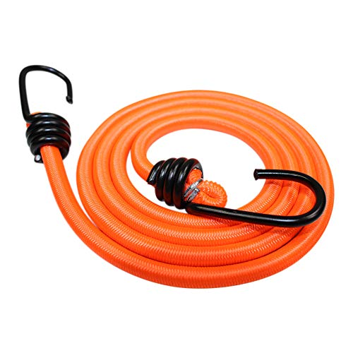 (Bungee Cord with Hooks (3/8 in 4-Pack) - SGT KNOTS - Marine Grade Bungee Cords with 2 Hooks - Heavy Duty Bungee Cord Straps - Bungees for Bikes, Tie Downs, Camping, Cars (56 in - Neon Orange) )